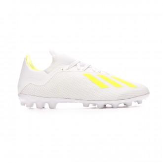 Football Boots  adidas X 18.3 AG White-Solar yellow-White