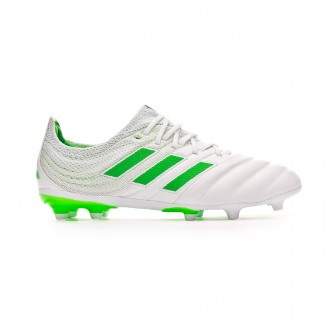 Football Boots  adidas Kids Copa 19.1 FG White-Solar lime