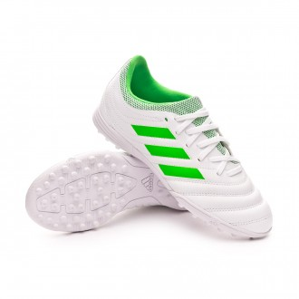 Football Boot  adidas Kids Copa Tango 19.3 Turf  White-Solar lime