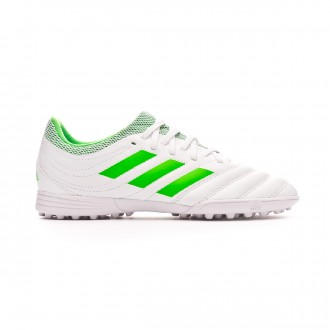 Chaussure de football  adidas Copa 19.3 Turf enfant White-Solar lime