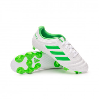 Football Boots  adidas Kids Copa 19.4 FG  White-Solar lime