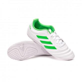 Futsal Boot  adidas Copa Tango 19.4 IN Niño White-Solar lime