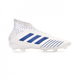 Bota  adidas Predator 19+ FG Niño White-Bold blue