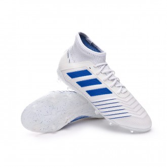 Football Boots  adidas Kids Predator 19.1 FG  White-Bold blue