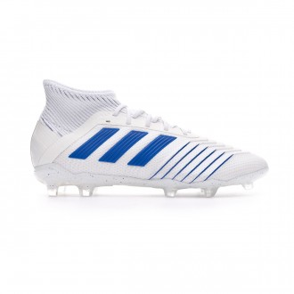 Chuteira adidas Predator 19.1 FG Crianças White-Bold blue