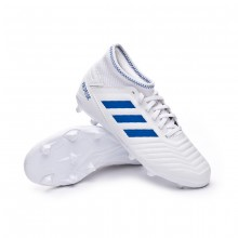 Football Boots Kids Predator 19.3 FG White-Bold blue