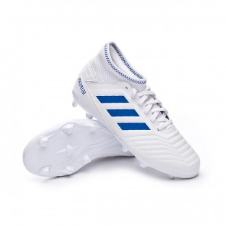 Football Boots  adidas Kids Predator 19.3 FG  White-Bold blue
