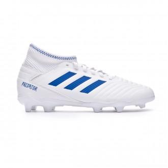 Bota  adidas Predator 19.3 FG Niño White-Bold blue