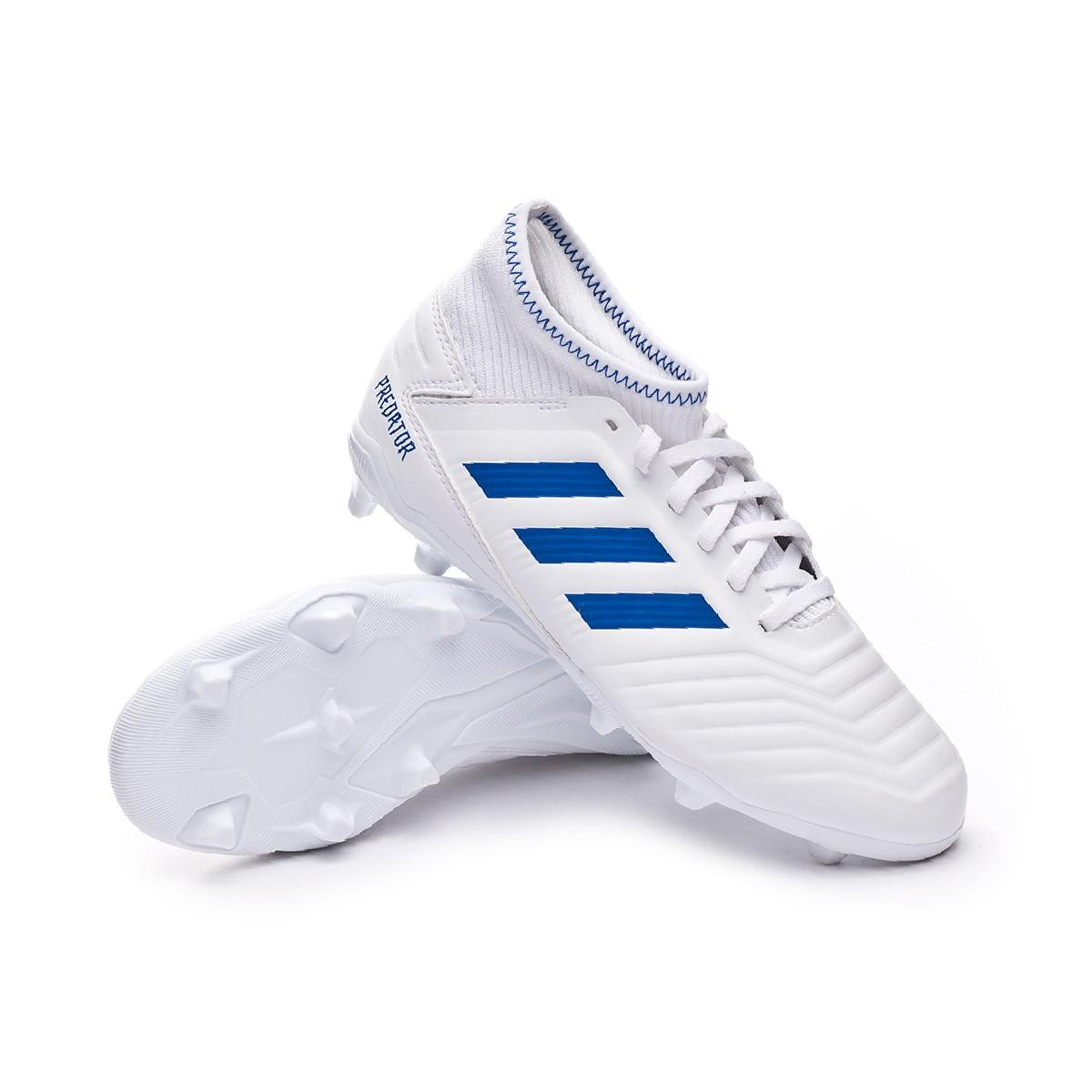 65feaffde265 Football Boots adidas Kids Predator 19.3 FG White-Bold blue - Football  store Fútbol Emotion