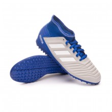Zapatilla Predator Tango 19.3 Turf Niño Grey two-White-Bold blue