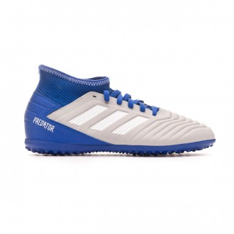 Zapatilla  adidas Predator Tango 19.3 Turf Niño Grey two-White-Bold blue