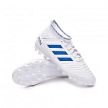 Football Boots Kids Predator 19.3 AG White-Bold blue
