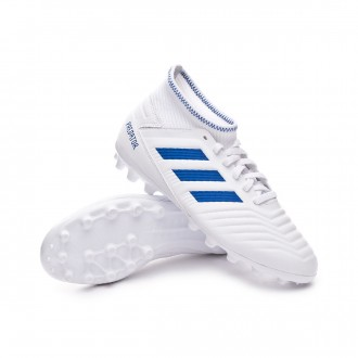 Football Boots  adidas Kids Predator 19.3 AG  White-Bold blue