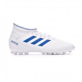 Bota  adidas Predator 19.3 AG Niño White-Bold blue