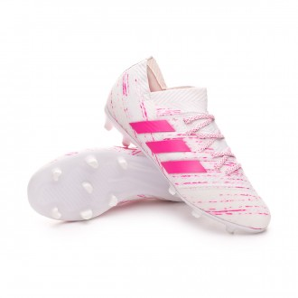 Football Boots  adidas Kids Nemeziz 18.1 FG  White-Shock pink