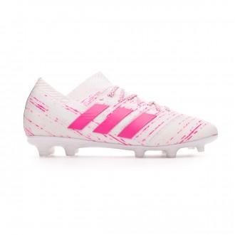 Bota  adidas Nemeziz 18.1 FG Niño White-Shock pink