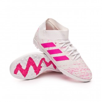 Football Boot  adidas Kids Nemeziz Tango 18.3 Turf  White-Shock pink