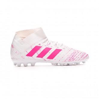 Chuteira adidas Nemeziz 18.3 AG Crianças White-Shock pink