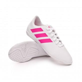 Zapatilla  adidas Nemeziz Tango 18.4 IN Niño White-Shock pink