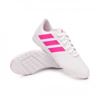 Football Boot  adidas Kids Nemeziz Tango 18.4 Turf  White-Shock pink