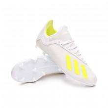 Zapatos de fútbol X 18.3 FG Niño White-Solar yellow-White