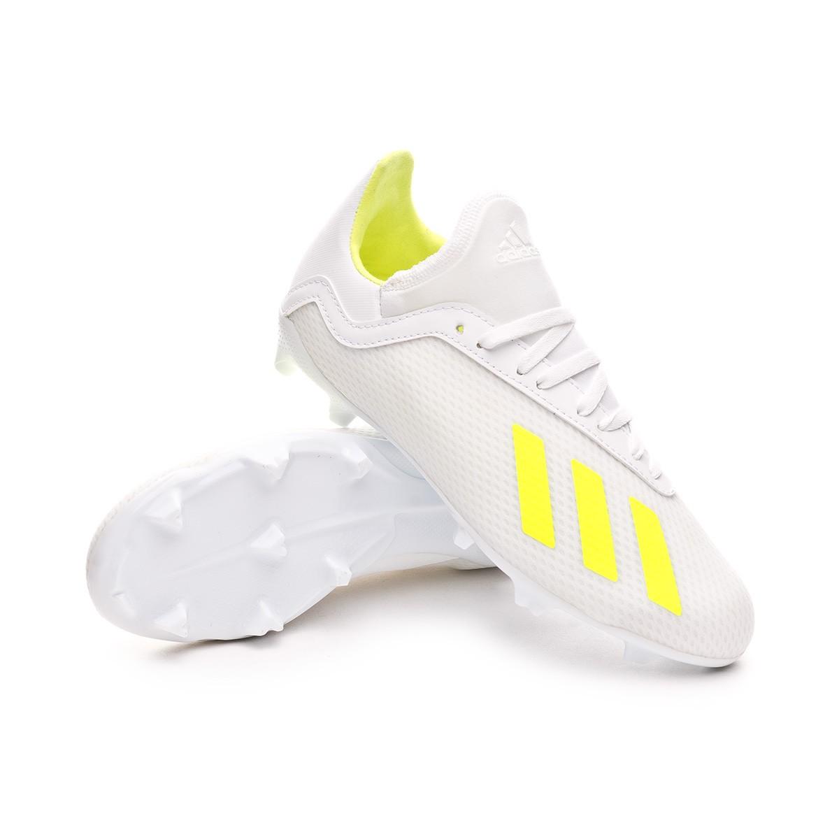 comprar más nuevo barato mejor valorado Para estrenar Football Boots adidas Kids X 18.3 FG White-Solar yellow-White ...