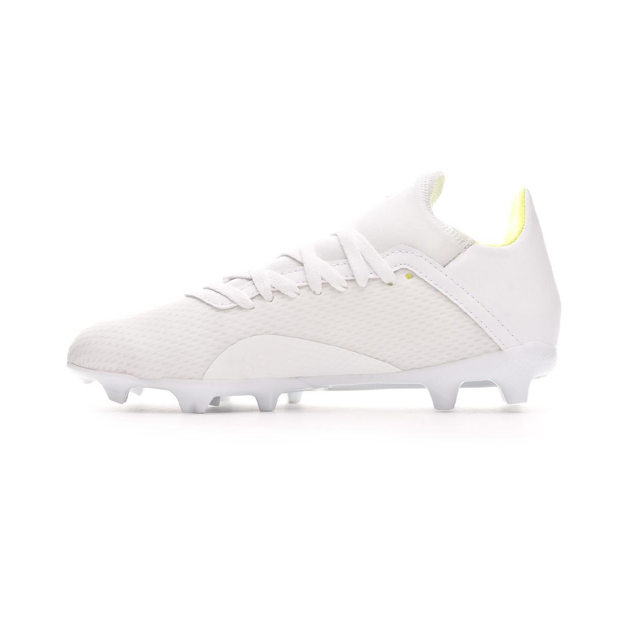 finest selection 3cc47 dc93c Bota X 18.3 FG Niño White-Solar yellow-White