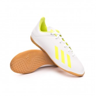 Futsal Boot  adidas X Tango 18.4 IN Niño White-Solar yellow-White