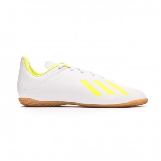 Zapatilla adidas X Tango 18.4 IN Niño White-Solar yellow-White