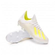 Bota X 18.1 FG Niño White-Solar yellow-White
