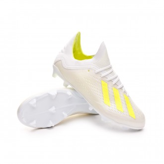 Football Boots  adidas Kids X 18.1 FG  White-Solar yellow-White