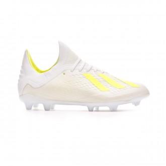Football Boots  adidas Kids X 18.1 FG White-Solar yellow-White