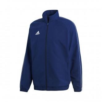 Jacket  adidas Core 18 Presentation Dark blue-White