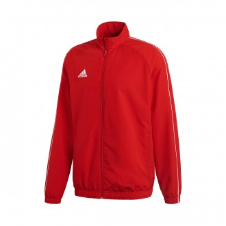 Jacket  adidas Core 18 Presentation Power red-White