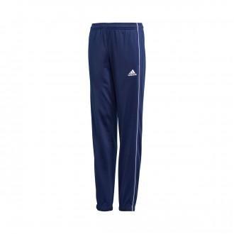 Pantaloni lunghi  adidas Core 18 Polyester Junior Dark blue-White