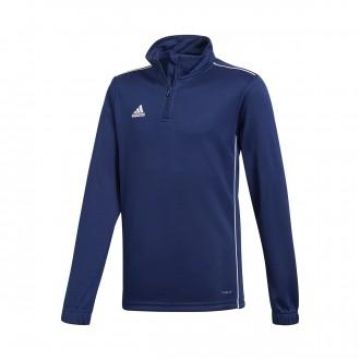Sweatshirt  adidas Core 18 Training Crianças Dark blue-White