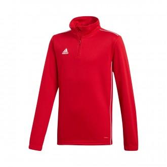 Sweatshirt  adidas Core 18 Training Crianças Power red-White