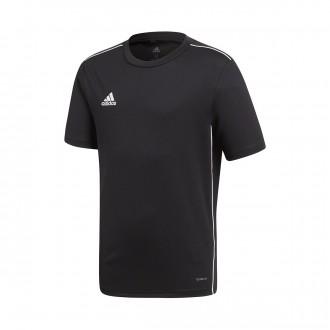 Camiseta  adidas Core 18 Training m/c Niño Black-White