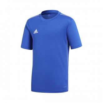 Camiseta  adidas Core 18 Training m/c Niño Bold blue-White