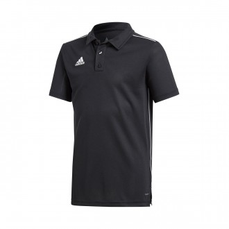 Polo  adidas Core 18 m/c Niño Black-White