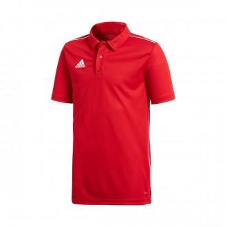 Polo shirt  adidas Core 18 m/c Niño Power red-White