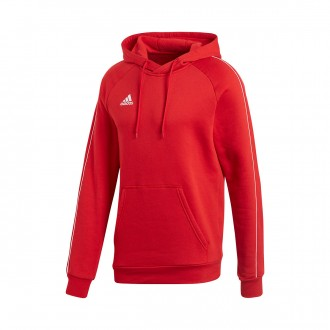 Sweatshirt  adidas Core 18 Hoody Power red-White