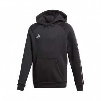 Sweatshirt  adidas Core 18 Hoody Niño Black-White