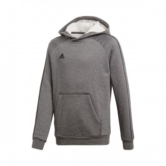 Sweatshirt  adidas Core 18 Hoody Niño Dark grey-Black