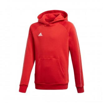 Sweatshirt  adidas Core 18 Hoody Niño Power red-White