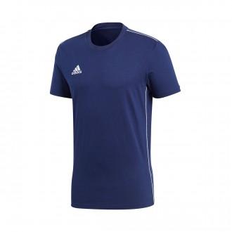 Camiseta  adidas Core 18 Tee m/c Dark blue-Bold blue