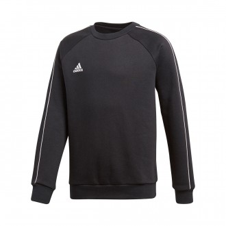 Sweatshirt  adidas Core 18 Sweat Niño Black-White