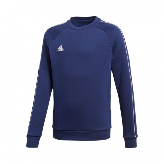Sweatshirt  adidas Core 18 Sweat Niño Dark blue-White