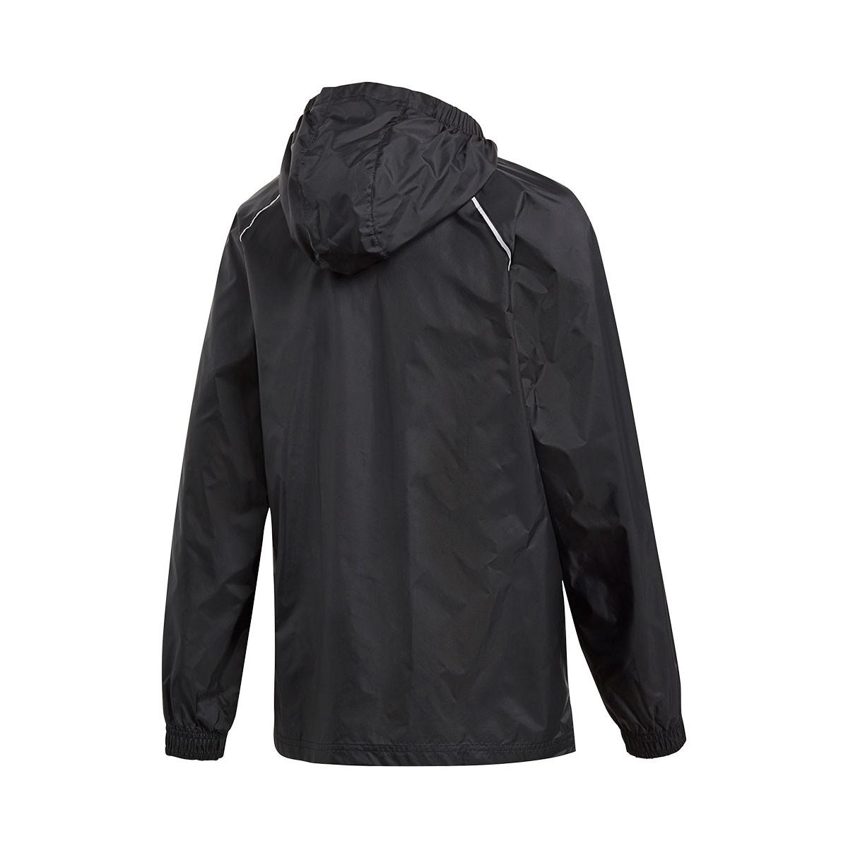 b6ab4ef19 Chubasquero adidas Core 18 Niño Black-White - Tienda de fútbol Fútbol  Emotion