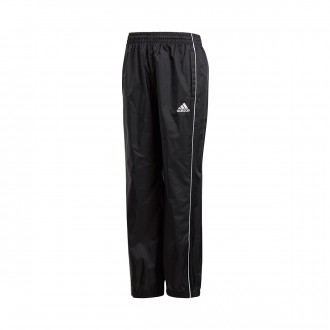 Tracksuit bottoms  adidas Core 18 Rain Niño Black-White